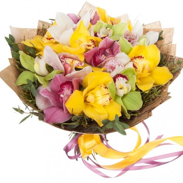 Букет из орхидей № 3