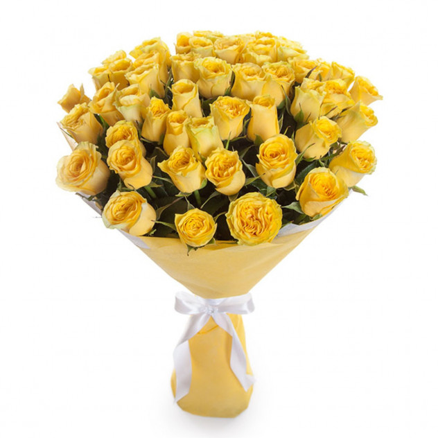 Букет из 51 желтой розы